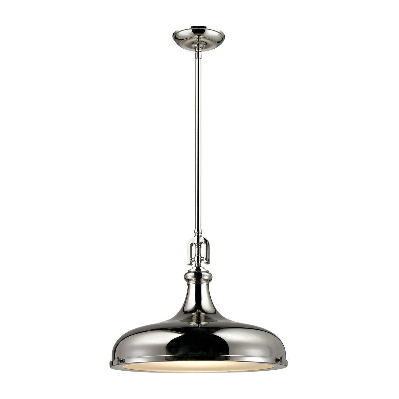 Rutherford light pendant in polished nickel products