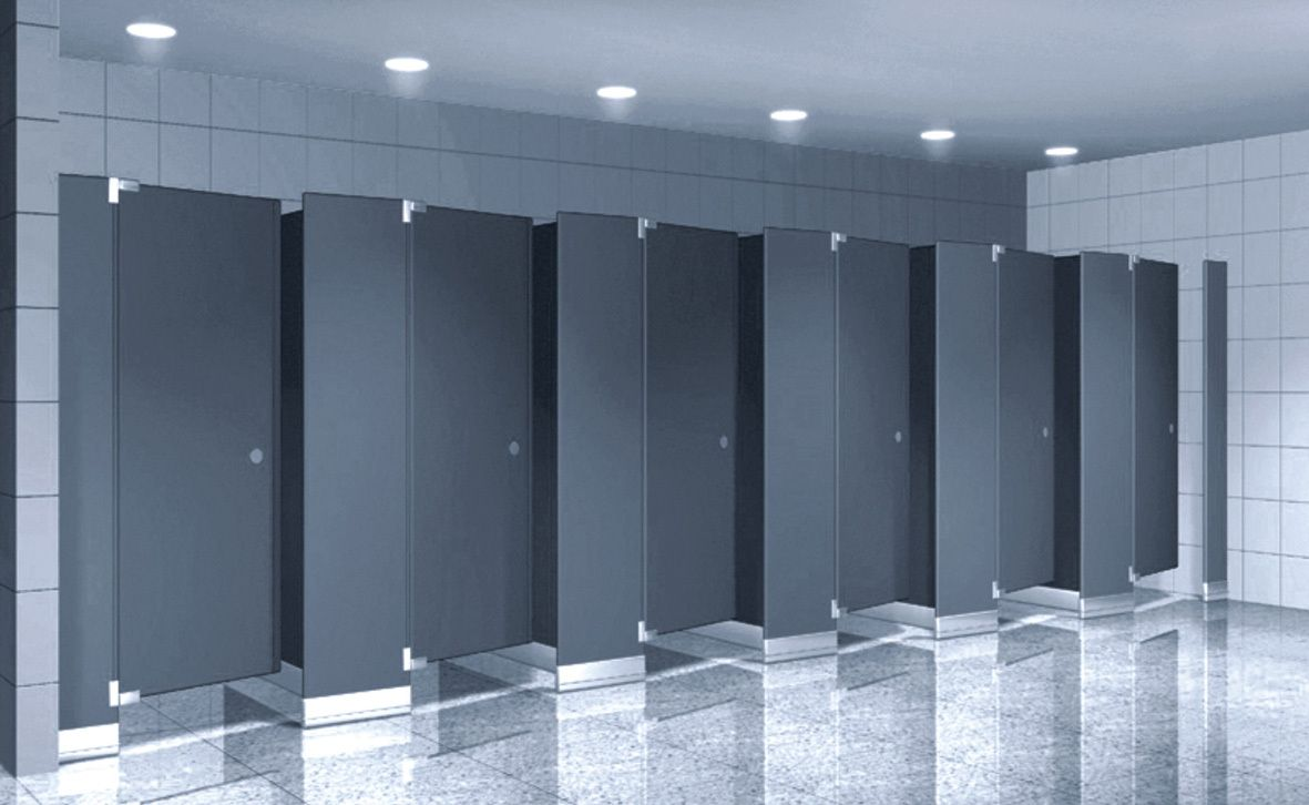 Bathroom Partitions Materials modern toilet cubicles | bathroom + public toilet | pinterest