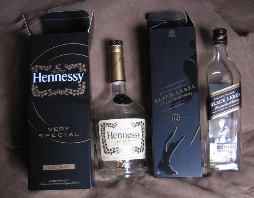 Hennessy Empty Bottles