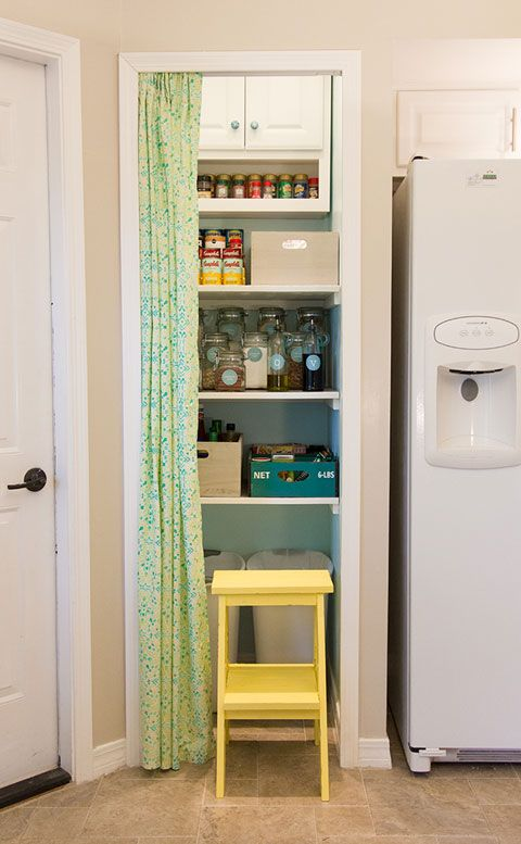 Lovely Kitchen Pantry, Curtain Door. I Did This In My Dorm Room. Itu0027s A Cheap Way  To Save Space And Also Have A Way To Hide Whatever Is Behind It.
