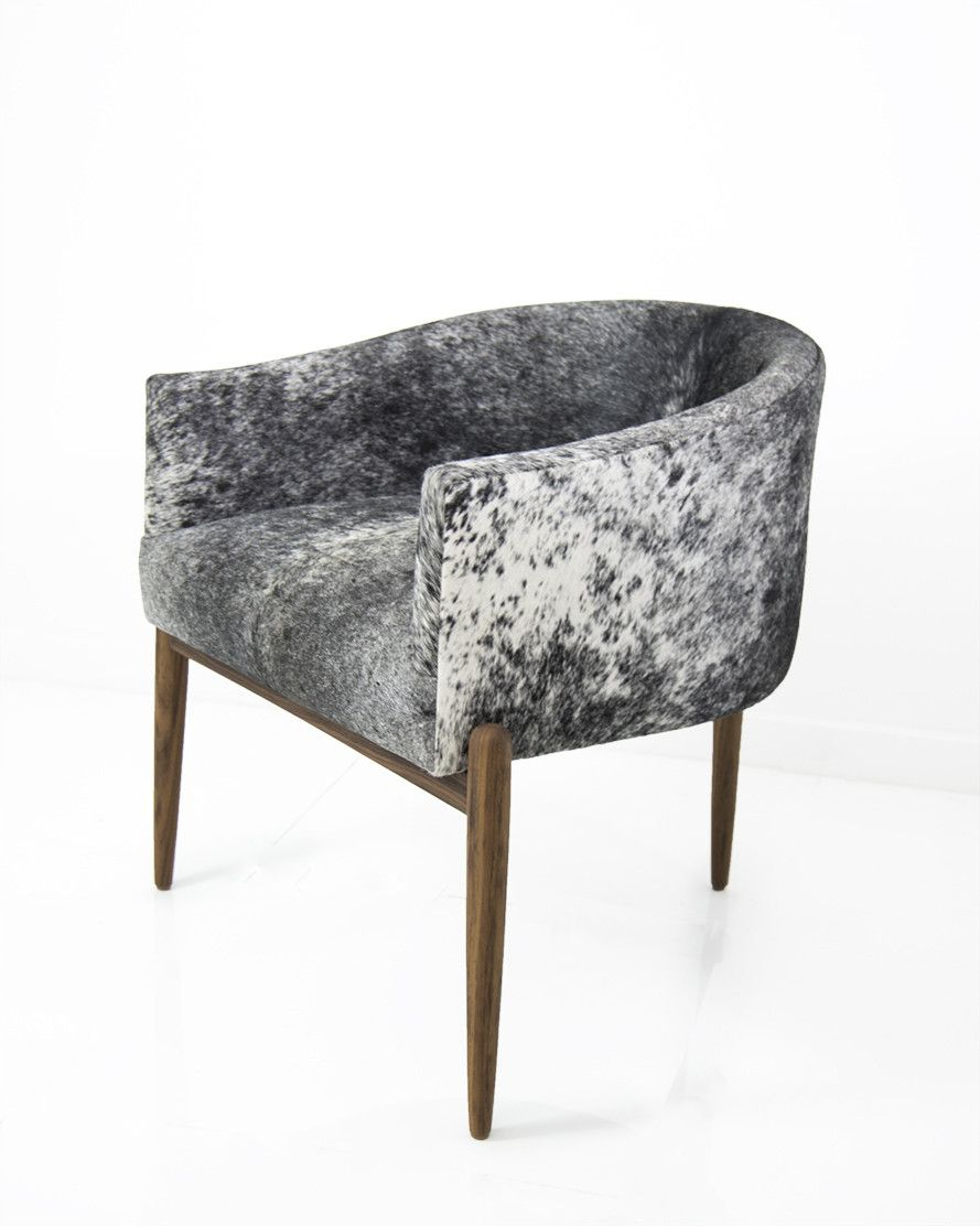 Art Deco Dining Chair In Salt And Pepper Cowhide My Dream Art Deco