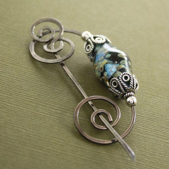 Shawl pin ------ ooooh, so pretty!   Jewellery   Pinterest   Draht ...