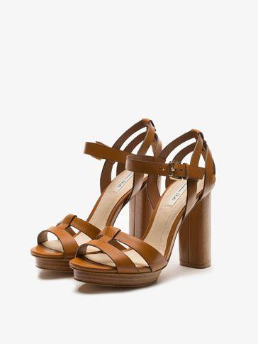 large choix de designs Achat/Vente chaussures élégantes SANDALE TALON CUIR pour {9} de Massimo Dutti pour la saison ...