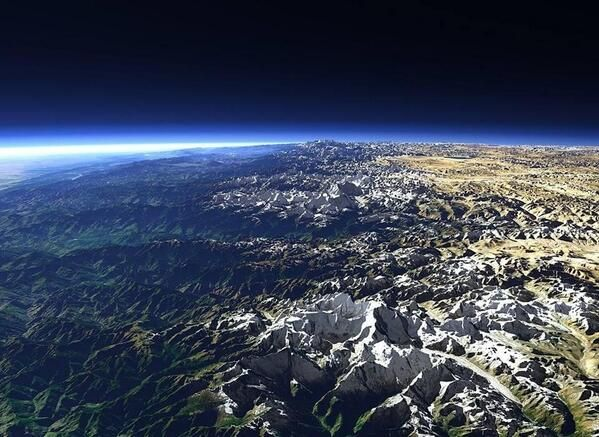Himalayas from space.