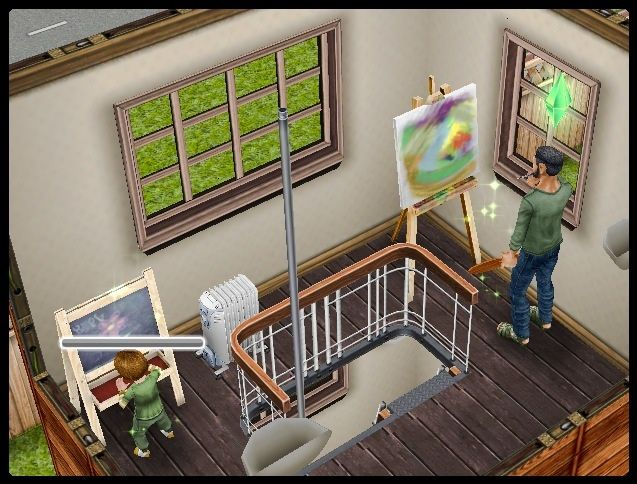 Sims Freeplay The Adult Painting And The Toddler On The Chalk