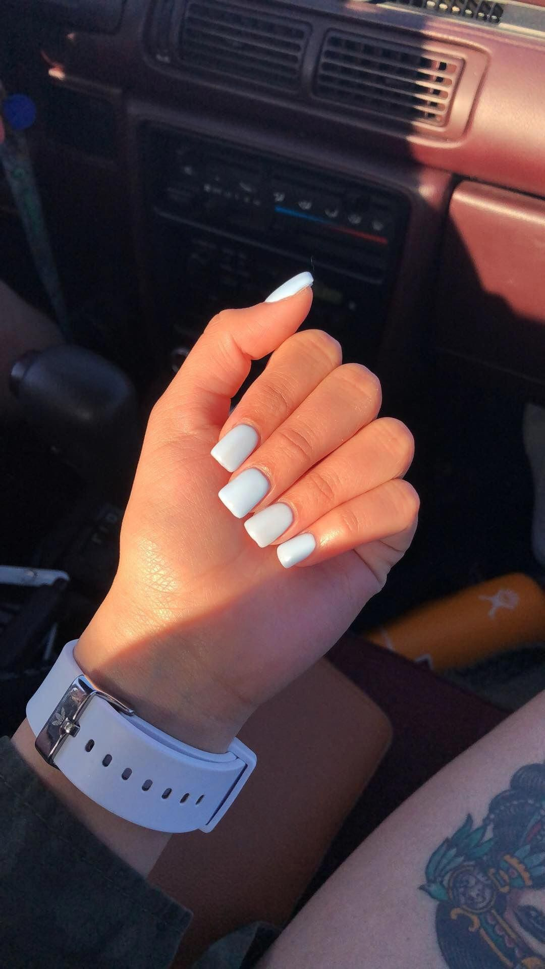 Short Blue Square Acrylic Nails Beautifulacrylicnails With