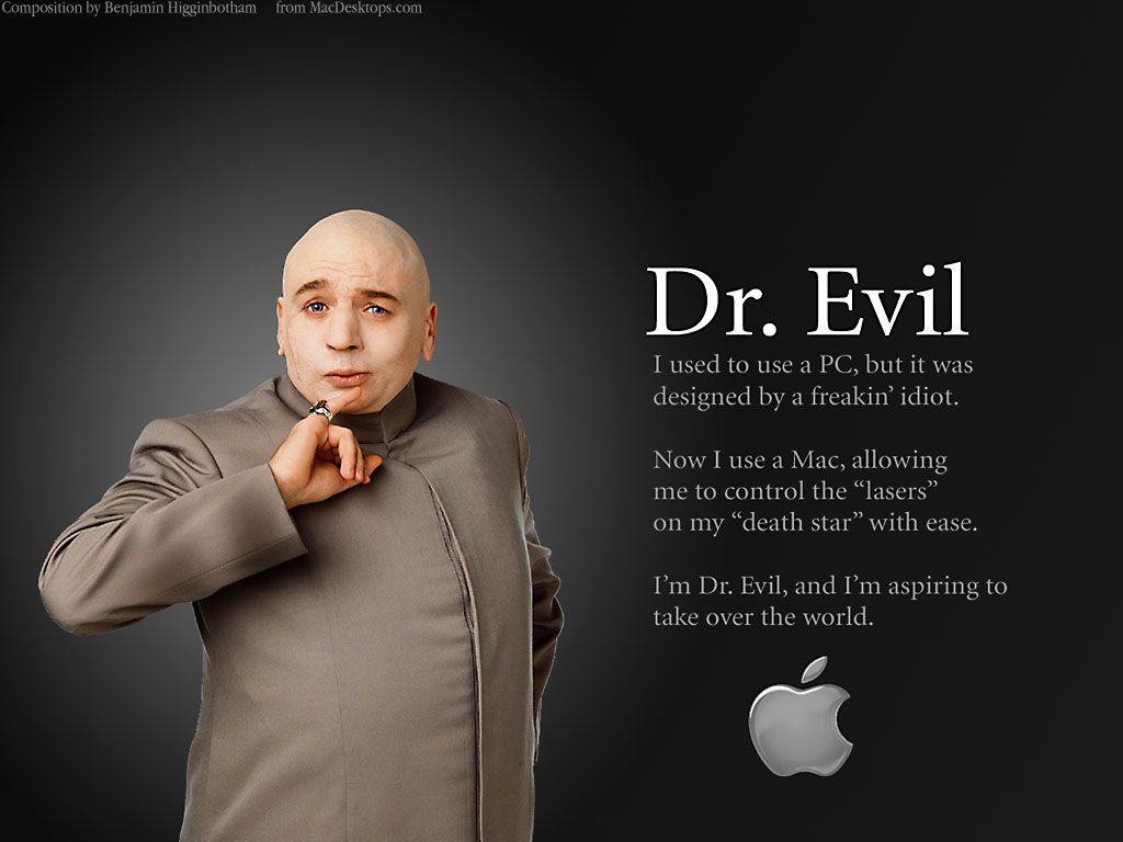It's Official, Dr Evil Uses A Mac!  Funnies  Pinterest  Dr Evil, Mac And  Apples