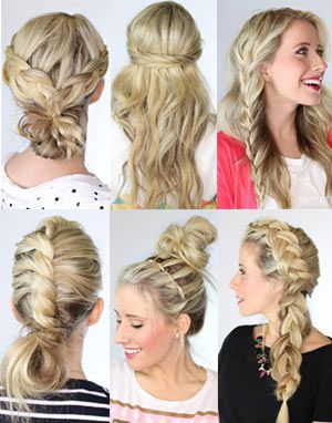 A two minute bun - this hairstyle you literally cannot mess up. Perfect for those busy days and can be styled with clean or dirty hair! Tutorial at Twist Me Pretty