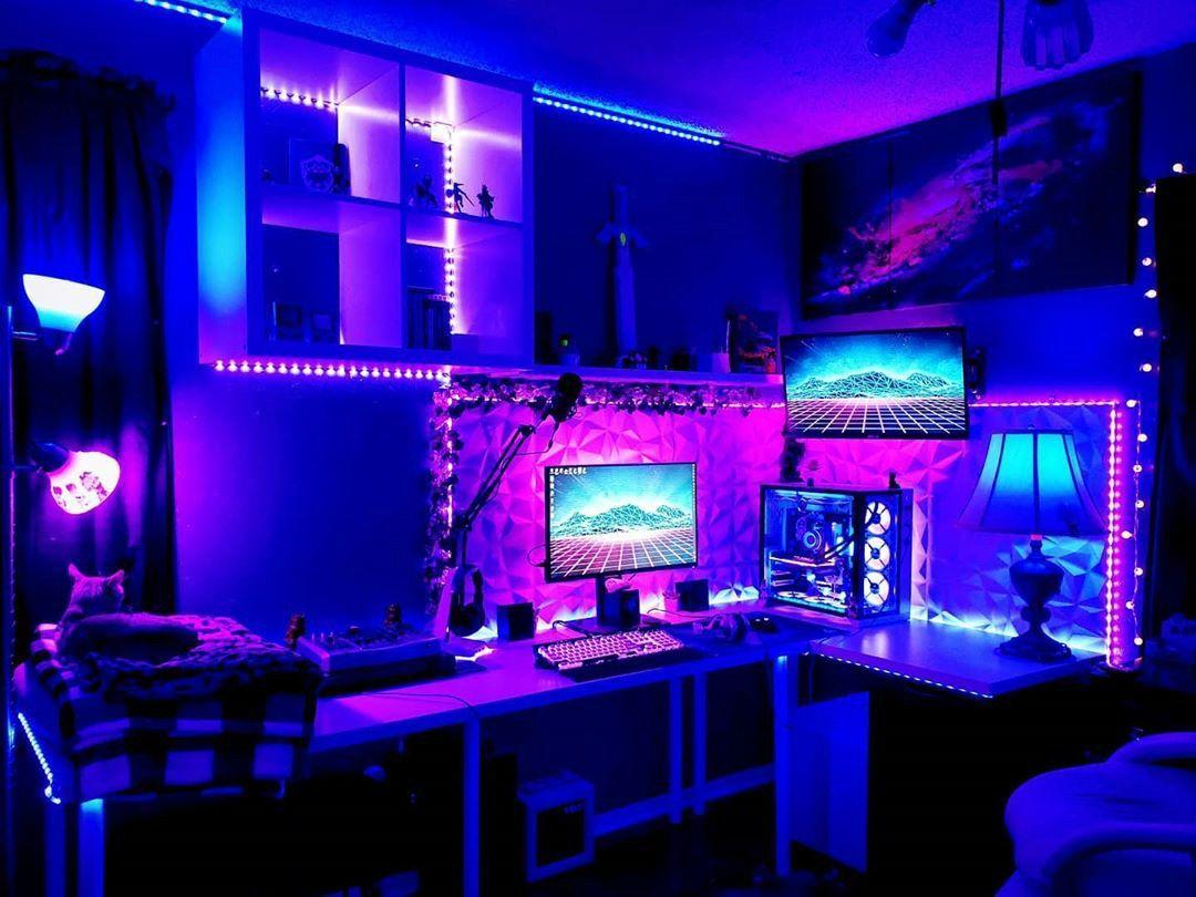 Gaming Setup Video Game Room Design Gaming Room Setup Game Room Design Bedroom gaming room setup