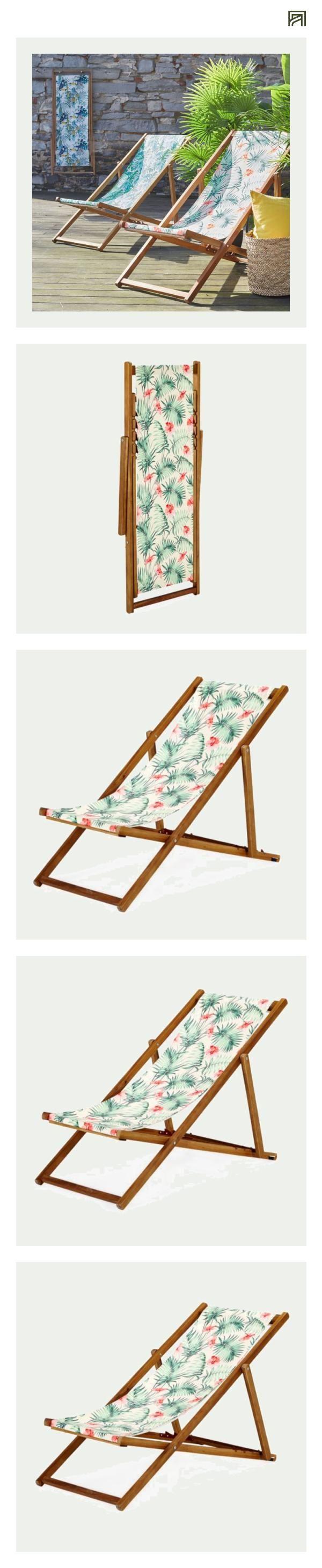 Chilienne Jardin AlineaTropicale Chaise De Motifs Longue L5Aj4R