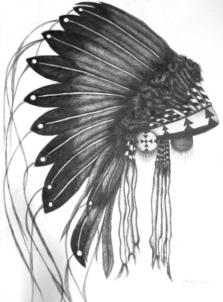 Pen and Ink Drawing-Headdress Two | There is beauty in all ...