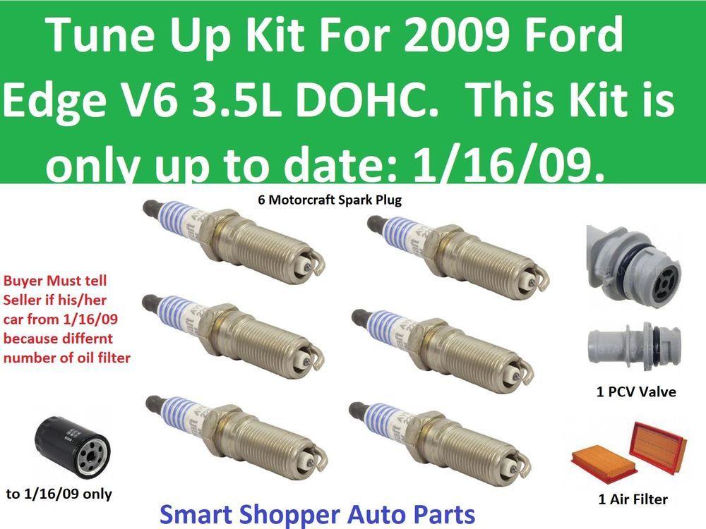 Tune Up Fit For  Ford Edge V Air Filter Oil Filter Pcv Valve Spark Plug Aftermarketproducts