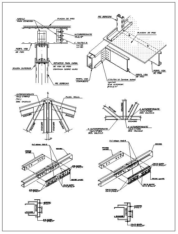 Free Steel Structure Details 1 Free Autocad Blocks Drawings Download Center Steel Structure Materials Board Interior Design Metal Roofing Prices