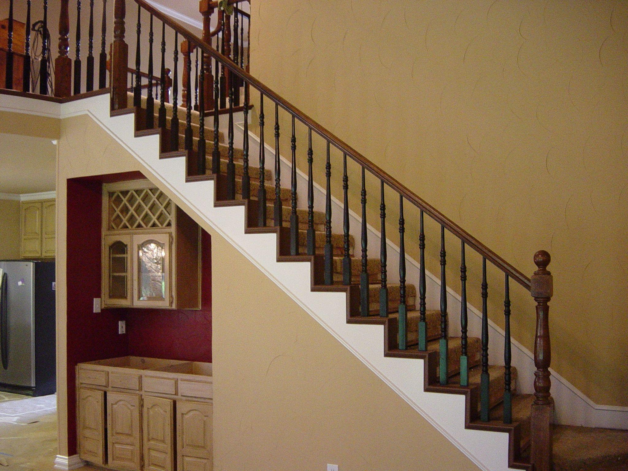 Best Black Spindles Redo Stairs Painted Stairs Black 640 x 480