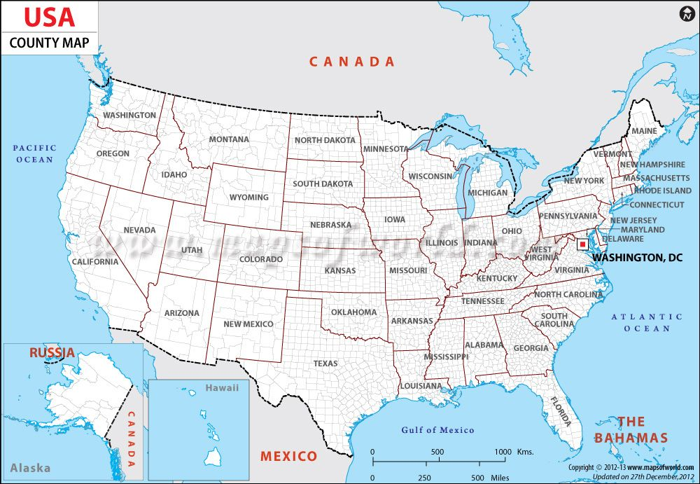 USA Map Showing All The Counties USA Maps Pinterest Capital - Usa map picture
