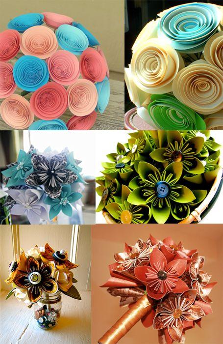 Flower bouquet alternatives ... #PAPER FLOWERS! | Wedding Ideas ...