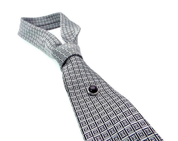 d2ec6b8784cb Black Onyx Tie Tac, Black Tie Tac, Black Tie Pin by DesignedByAudrey on Etsy