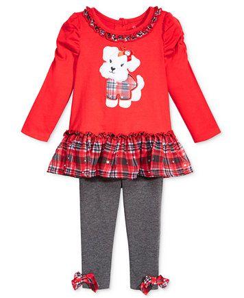 cc4c1c10 Nannette 2-Pc. Puppy Tunic & Plaid Leggings Set, Baby Girls | macys ...