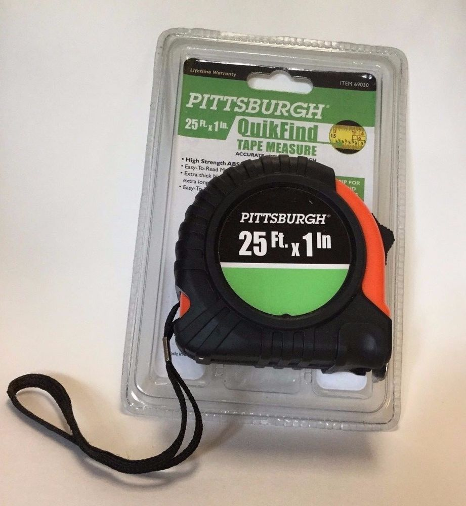 Tape Measure Pittsburgh Quick Find 25 Ft New Pittsburg With Images Tape Measure Tape Pittsburgh