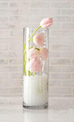 Vase En Verre Droit Cylindrique Pas Cher Idee Deco Vase Vase Verre Idee Deco Vase Transparent