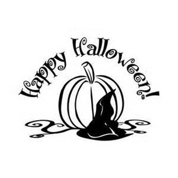 Happy Halloween Pumpkin Window Cling / Custom COLOR by Adsforyou - halloween window clings