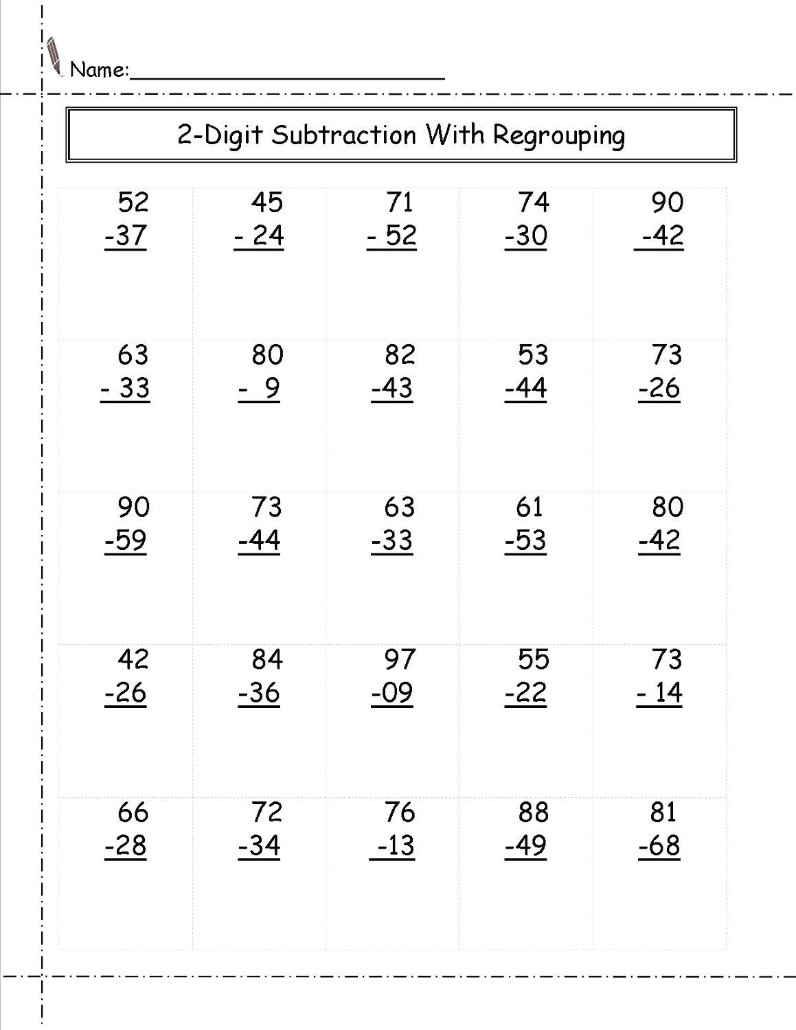 030 Digit Subtraction Word Problems Year Math Worksheets