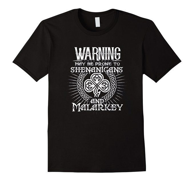 Men's Shenanigans & Malarkey irish t-shirt shirts birthday gift 2XL Black
