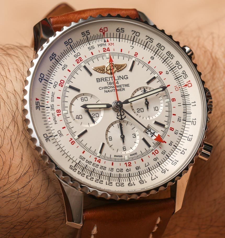 Breitling Navitimer GMT 48mm Watch Hands-On - today on aBlogtoWatch.com