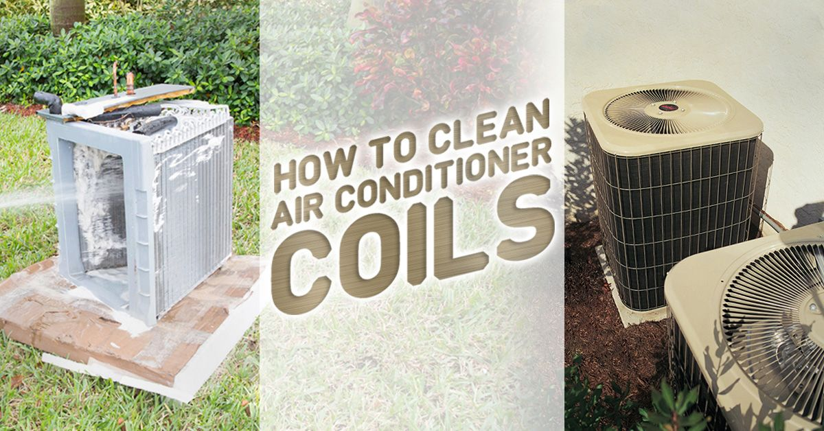 How to clean ac coils air conditioner condenser home
