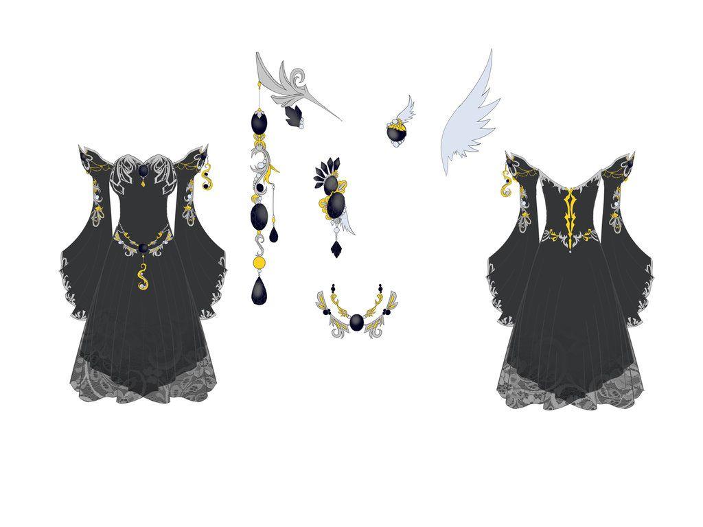 Onyx Dress Design by Eranthe.deviantart.com on @deviantART