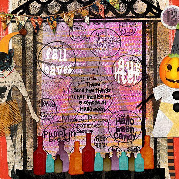 Julie Ann Shahin | Halloween art, Art journal pages, Art ...