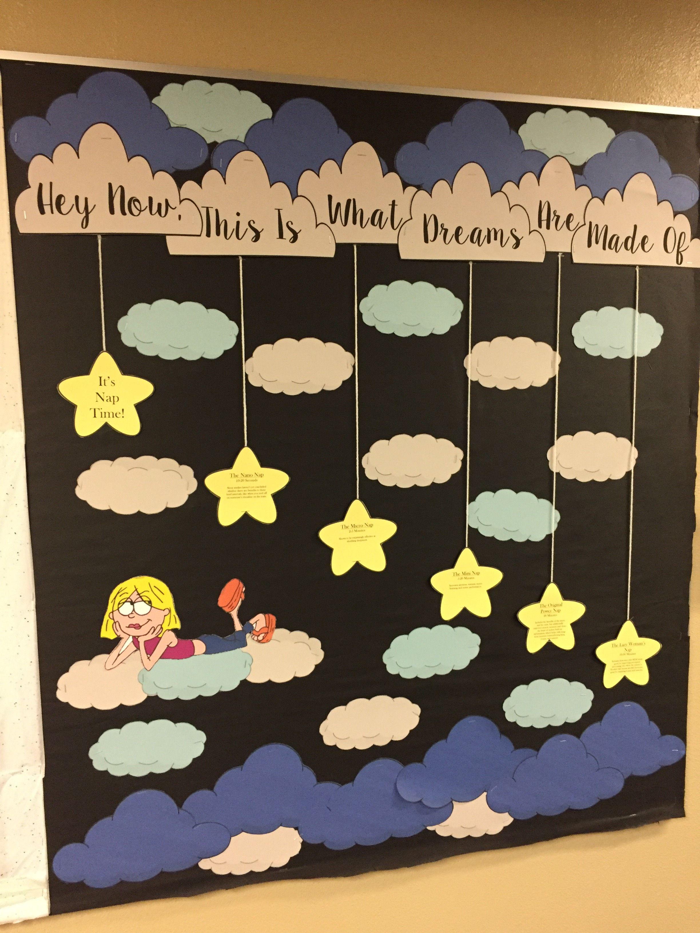 Sleep Habits Bulletin Board Diy Classroom Decorations Bulletin Boards Classroom Decor