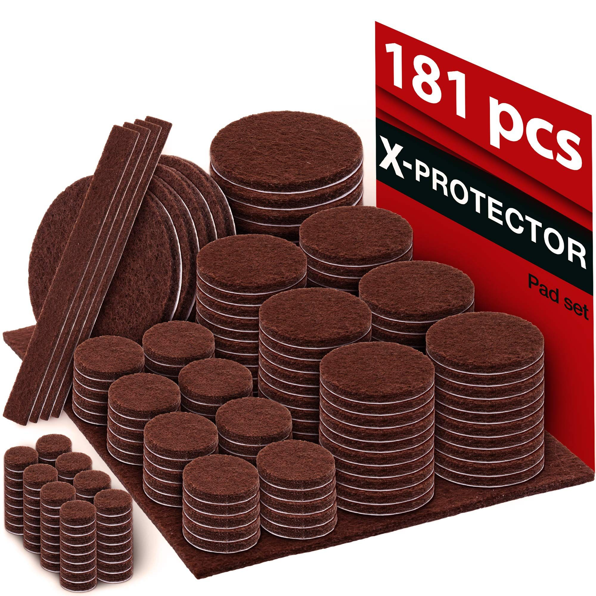 X Protector Premium Ultra Large Pack Felt Furniture Pads 181 Piece Felt Pads Furniture Feet All Felt Furniture Pads Furniture Pads Furniture Floor Protectors