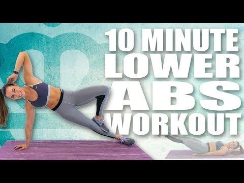 10 Minute LOWER BELLY AB WORKOUT! �Sydney Cummings