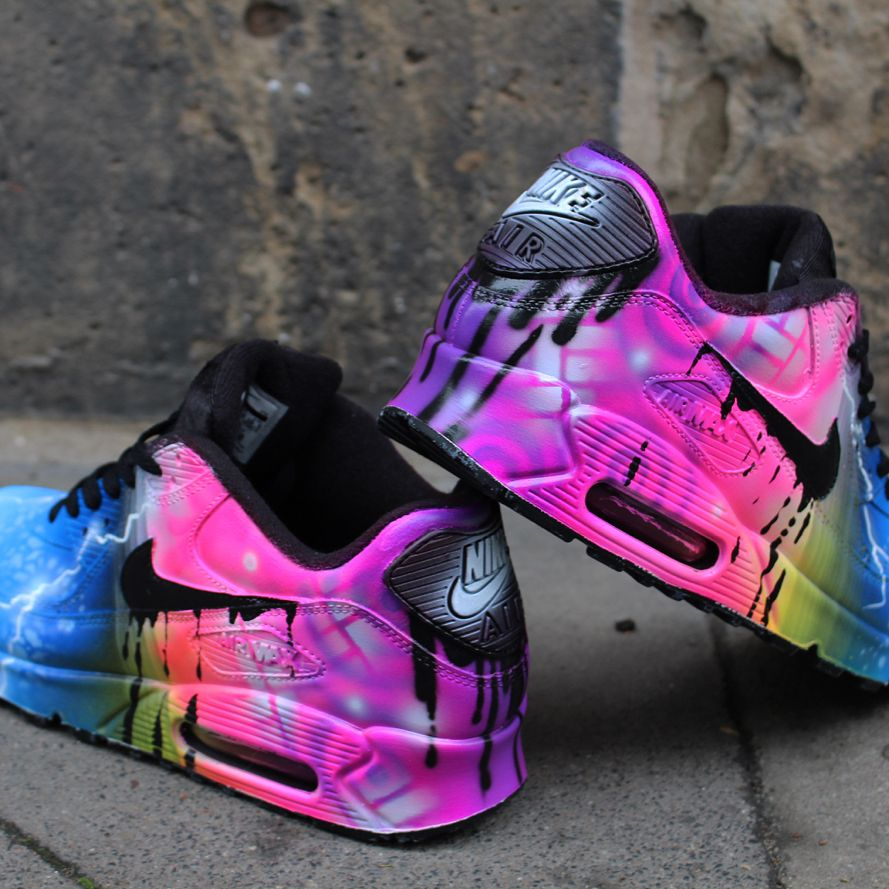 Rainbow Air max 90's by HGKUSTOMS on Etsy | Nike schuhe
