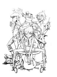 Jamie Hewlett | Gorillaz (Noodle Sitting on chair)