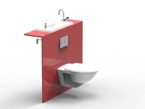 Wici bati les toilettes suspendues avec lavabo int gr bricolage appart pinterest design - Toilette avec lavabo integre ...
