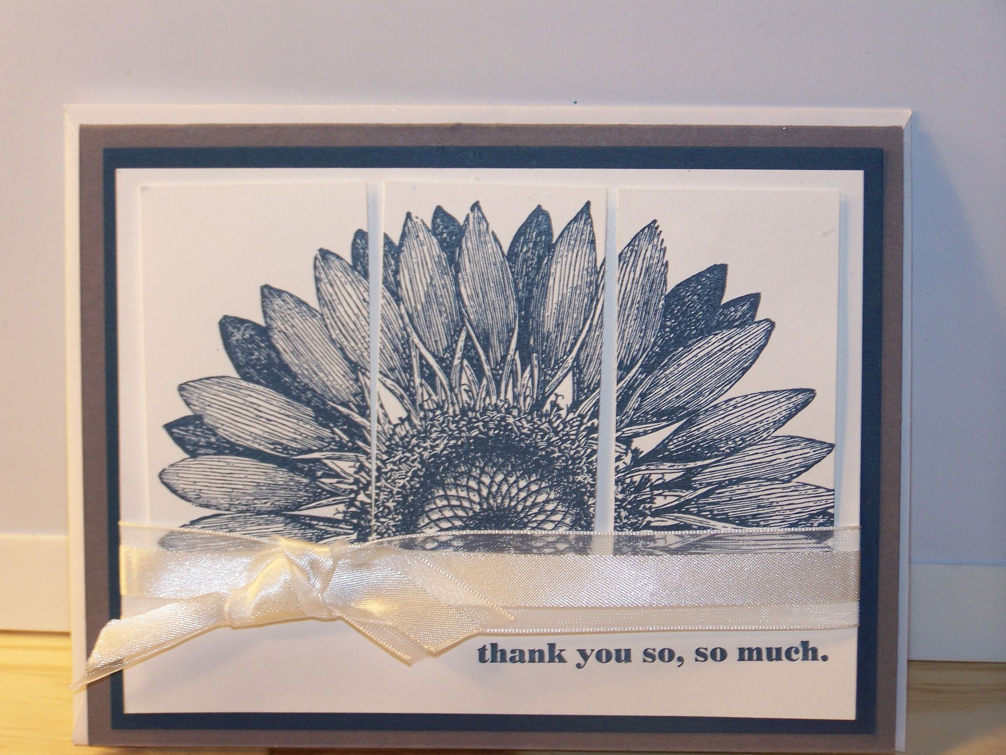 Thank you card pc flower discover more ideas about blue grey
