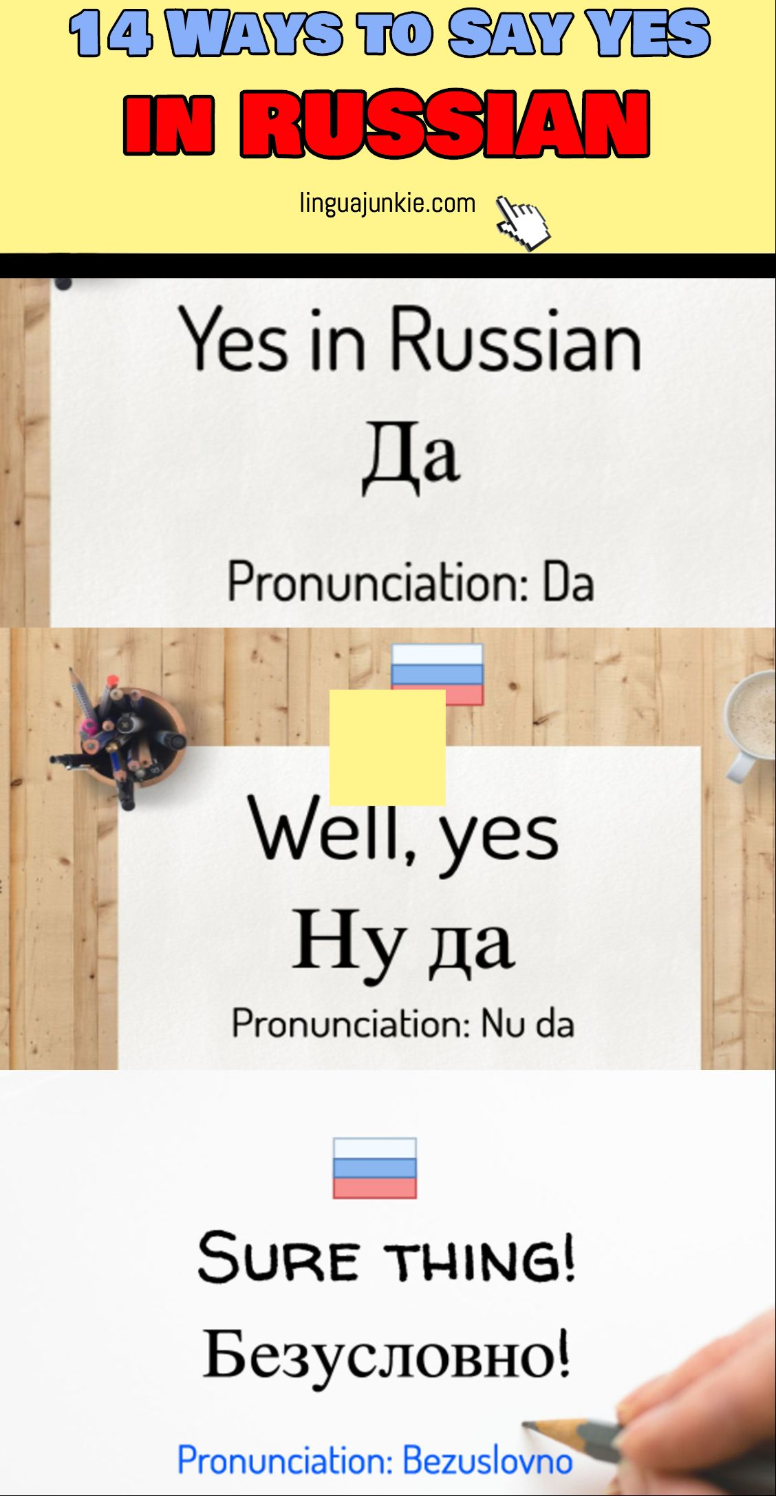 14 Ways To Say Yes In Russian A Language Lesson Pinterest