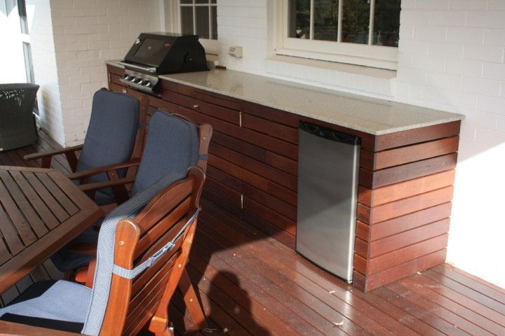 outdoor b b q and kitchen bush forest decks. Black Bedroom Furniture Sets. Home Design Ideas