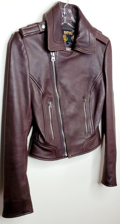 Vintage David Bitton Buffalo Leather Moto Jacket Etsy In 2020 Leather Moto Jacket Moto Jacket Jackets