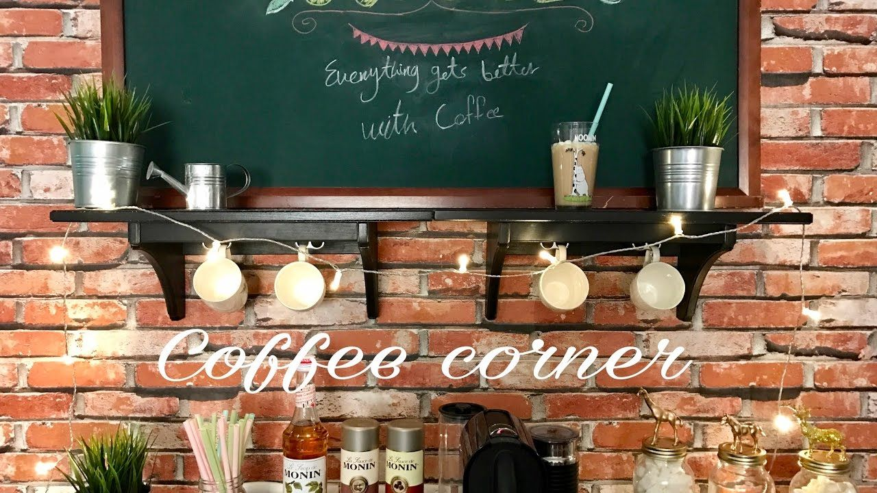 تزيين ركن القهوة Coffee Corner Youtube Coffee Corner Liquor Cabinet Home Decor