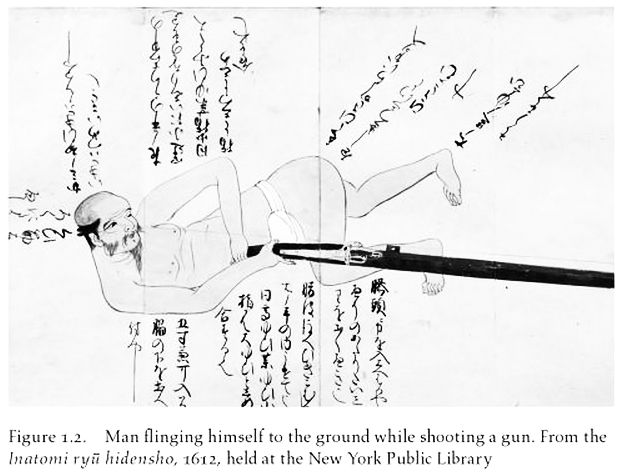 Image from a Japanese matchlock training manual