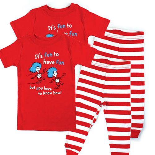 435df2735 Thing 1 and Thing 2 Pajamas, twin pajamas | My babies | Dr seuss ...