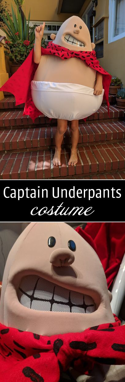 "I decided to create this costume because the ""off the rack"" costume available at stores like Target and Walmart was just so bad. It was important to me to achieve the fat guy shape of Captain Underpants and to have his face look like him."