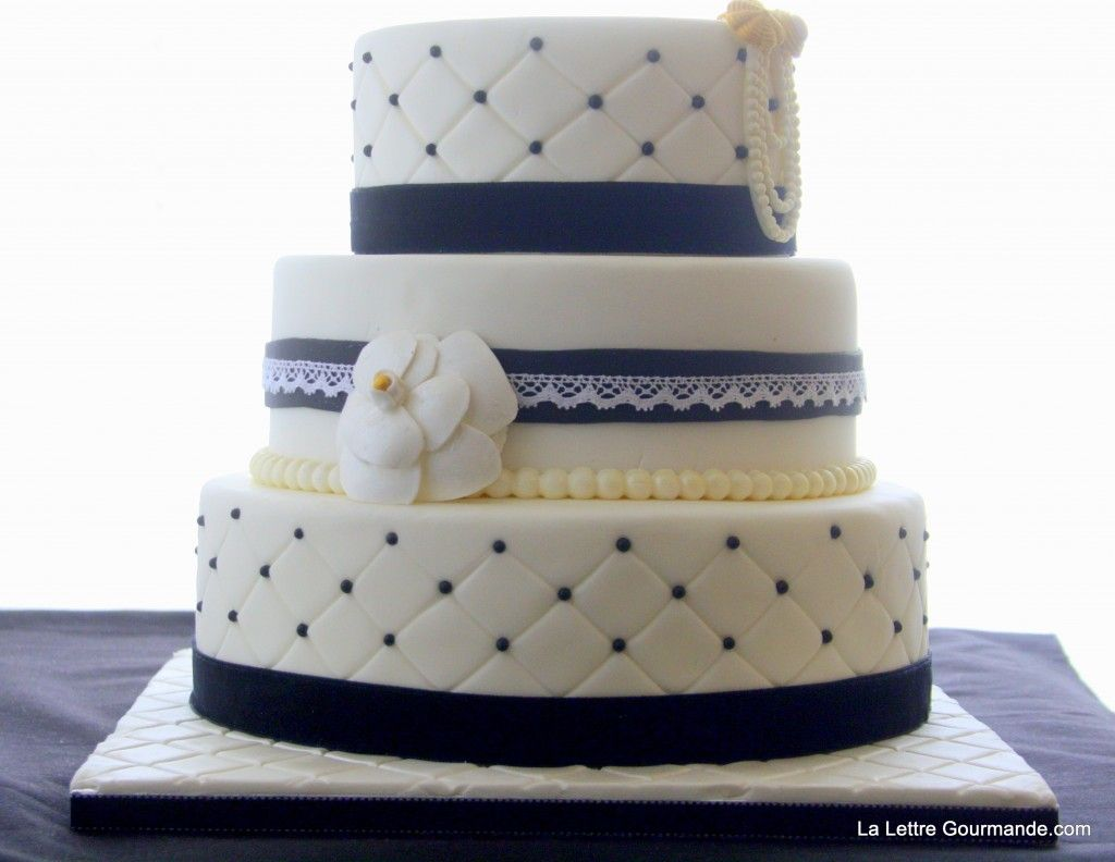 Souvent Le gâteau noir et blanc: effet matelassé et quelques explications  GX04