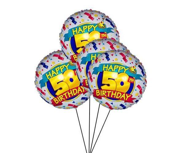 4 Happy 50th Birthday Balloon
