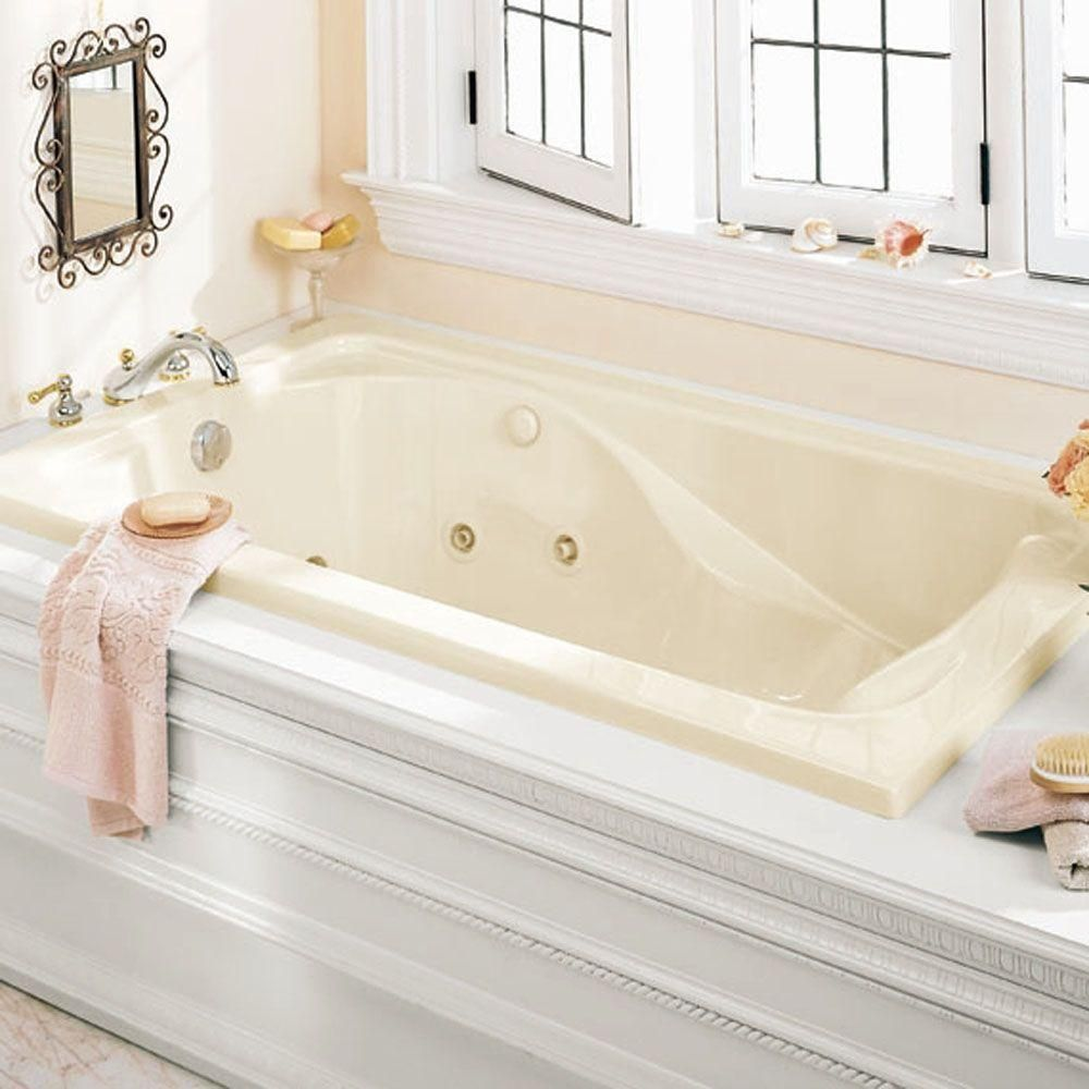 American Standard Cadet 6 ft. x 42 in. Whirlpool Tub in White ...