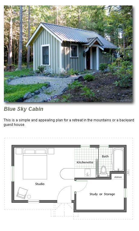 Footprint 14 X 24 307 Square Feet Backyard Guest Houses Tiny House Plans Small House