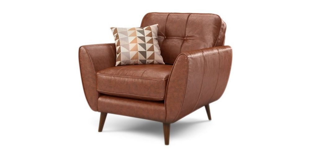 Zinc Leather Armchair | DFS